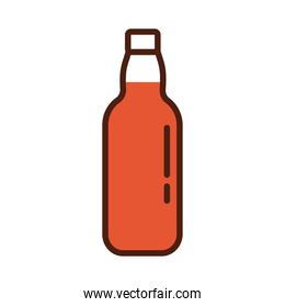 beer bottle drink international day line and fill style