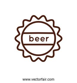 beer tap cork line style icon