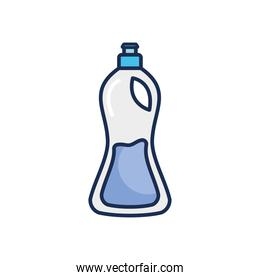 dish soap bottle icon, line fill style