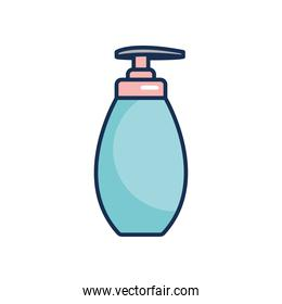 hand soap bottle icon, line fill style