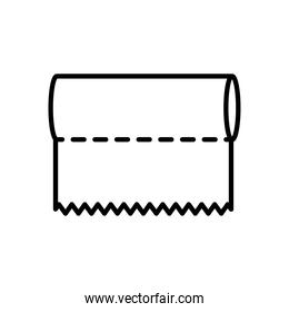paper towels icon, line style