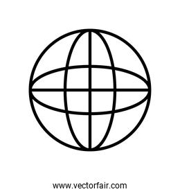 web icons concept, global connection icon, line style