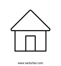 web icons concept, home symbol, house icon, line style