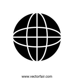 web icons concept, global connection icon, silhouette style