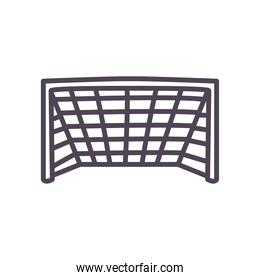 Soccer goal line and fill style icon vector design