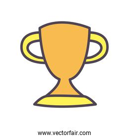 Isolated trophy line and fill style icon vector design