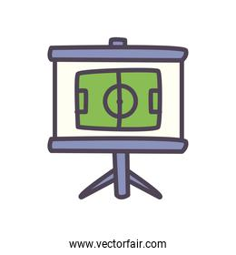 Soccer strategy board line and fill style icon vector design