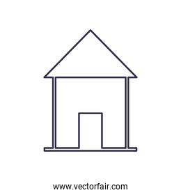 house with door line style icon vector design