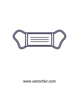 Isolated medical mask line style icon vector design