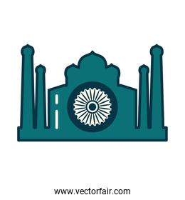 Indian mosque line and fill style icon vector design