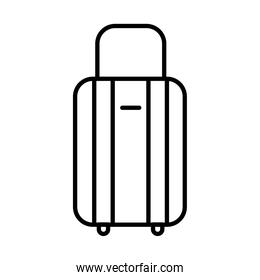 travel bag line style icon vector design