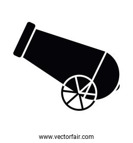 Isolated cannon silhouette style icon vector design