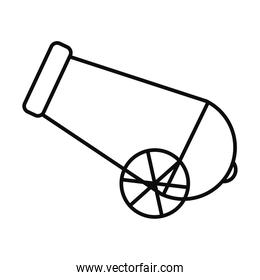 Isolated cannon line style icon vector design