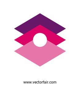 geometric and abstract squares flat style icon vector design