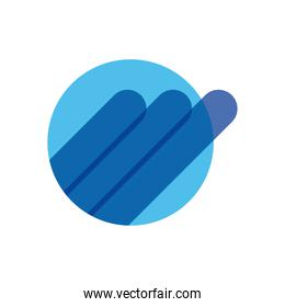 geometric and abstract circle flat style icon vector design