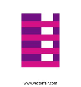 geometric and abstract striped rectangle flat style icon vector design