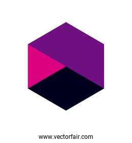 geometric and abstract hexagon flat style icon vector design