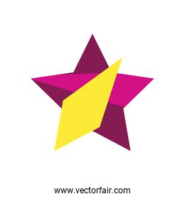 geometric and abstract star flat style icon vector design
