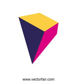 geometric and abstract 3d pyramid flat style icon vector design