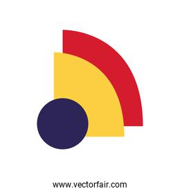 geometric and abstract quarter and circle flat style icon vector design