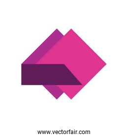 geometric and abstract square flat style icon vector design