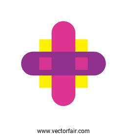 geometric and abstract cross flat style icon vector design