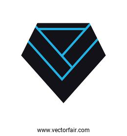 geometric and abstract shape flat style icon vector design