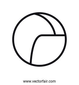 geometric and abstract circle line style icon vector design