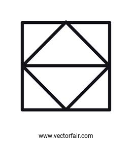 geometric and abstract square line style icon vector design