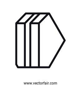 geometric and abstract 3d shape line style icon vector design