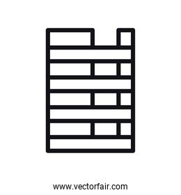 geometric and abstract striped rectangle line style icon vector design