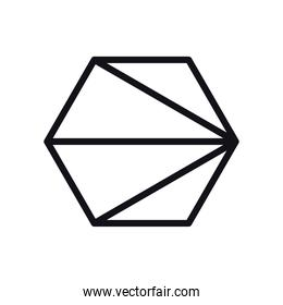 geometric and abstract hexagon line style icon vector design