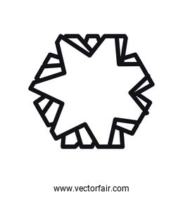 geometric and abstract star line style icon vector design