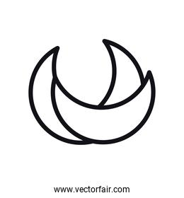 geometric and abstract half circle line style icon vector design