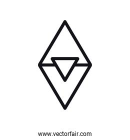 geometric and abstract triangles line style icon vector design