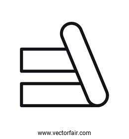 geometric and abstract lines line style icon vector design