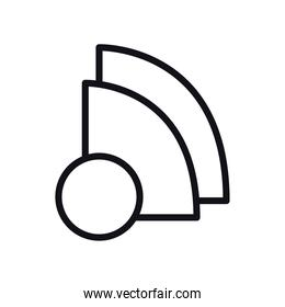geometric and abstract quarter and circle line style icon vector design