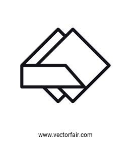 geometric and abstract square linear style icon vector design