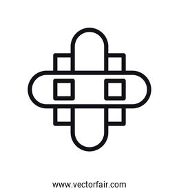 geometric and abstract cross line style icon vector design