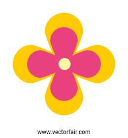 cute tropical flower icon, flat style