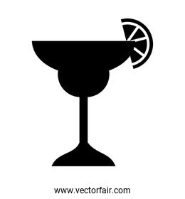 margarita cocktail drink icon, silhouette style