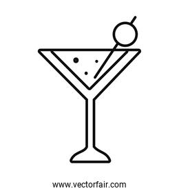 martini cocktail drink icon, line style