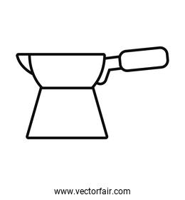 turkish coffee maker icon, line style