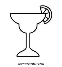 margarita cocktail drink icon, line style