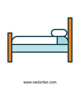 bed icon image, line and fill style