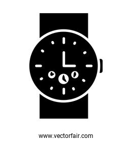 male handwatch icon, silhouette style