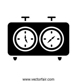 chess clock icon, silhouette style