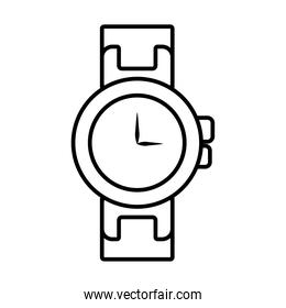 handwatch icon image, silhouette style