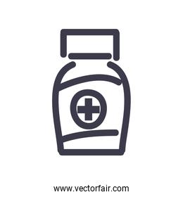 Medicine jar fill style icon vector design