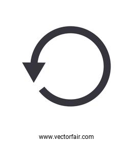 Before arrow or left direction flat style icon vector design